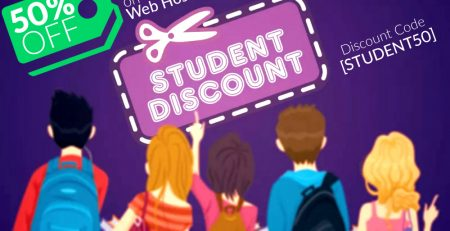 Student Discount 50% Off on Web Hosting