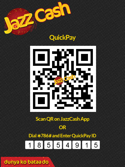 Pay through Jazz Cash 18554915