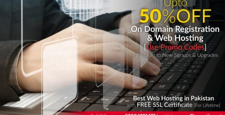 upto 50 Percent OFF on Domain Registration and Web Hosting in Pakistan