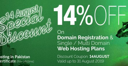 14 August 2019 Special Discount on Best Web Hosting in Pakistan