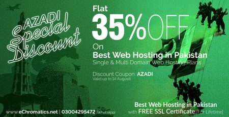 Azadi Offer Special Discount on Best Hosting in Pakistan